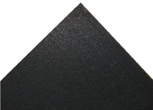 Rubber Cal Elliptical Heavy Duty Floor Mat, Black, 3/16-Inch x 4 x 7-Feet