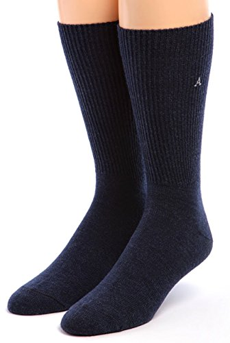 Warrior Alpaca Socks - Men'S Baby Alpaca Dress Socks Navy L