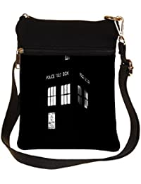 Snoogg Police Box Cross Body Tote Bag / Shoulder Sling Carry Bag