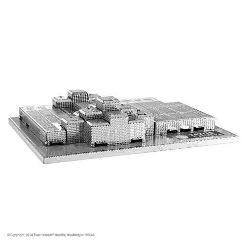 Fascinations Metal Earth 3D Laser Cut Model - Javits Convention Center - 1