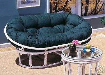 Papasan Loveseat - Classic Indoor Rattan Furniture NIB