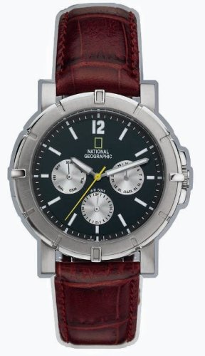 National Geographic Men's Watch #NG02GKSB - Buy National Geographic Men's Watch #NG02GKSB - Purchase National Geographic Men's Watch #NG02GKSB (National Geographic, Jewelry, Categories, Watches, Men's Watches, Sport Watches, Leather Banded)