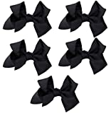 Greatlookz Fashion Solid Color Extra Large Grosgrain Ribbon Bow Set of 5