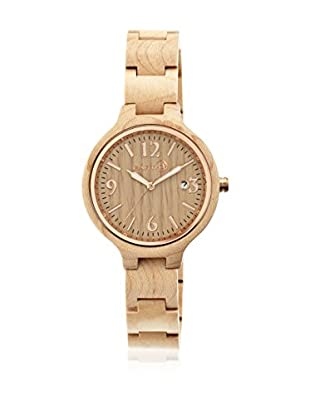 Earth Wood Reloj con movimiento cuarzo japonés Woman Nodal 38.0 mm