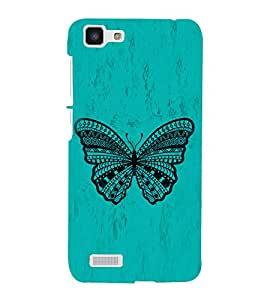 Graphical Butterfly 3D Hard Polycarbonate Designer Back Case Cover for VIVO Y27L :: Y 27L