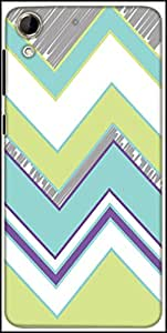 Snoogg Zig Zag Design 2368 Designer Protective Back Case Cover For HTC Desire 728