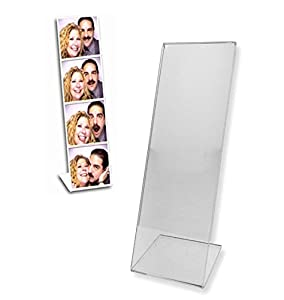 PHOTO BOOTH tabletop acrylic frame with bent -L- easel Our price is for 3 pcs - 2x6