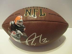 Trent Richardson Autographed Signed Custom NFL Wilson Composite Photo Football,... by Southwestconnection-Memorabilia