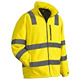 Blaklader Fleece Jacket High Visibility Yellow Size XXXL