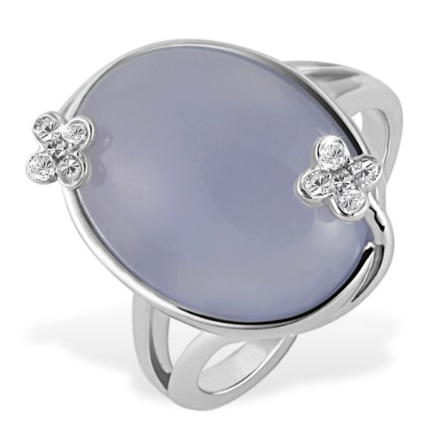 Goldmaid Sterling Silver Ring Moonstone and 10