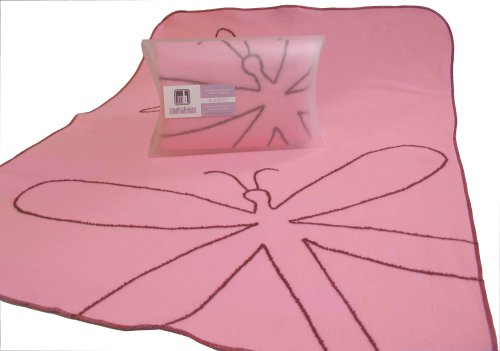 Modern Basics Pink Dragon Fly Blanket 40X30