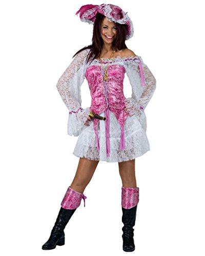 Pierro´s Kostüm Piratin Bonny Damenkostüm Frauenkostüm Komplettkostüm Größe 32/34 für Karneval, Fasching, Party