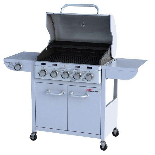 Broil-master Barbecue a gas BBQ grill 5+1 argento con attacco per l'Italia certificato da TÜV Rheinland su qualità, funzionalità e semplicità d'uso