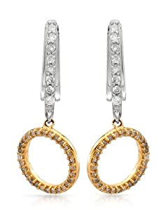 Genuine Morne Rouge (TM) Earrings. 0.41 Ctw I1 Color H Diamonds 14K Gold Earrings. 3.7 Grams in Weight and 26 mm in Length. 100% Satisfaction Guaranteed.