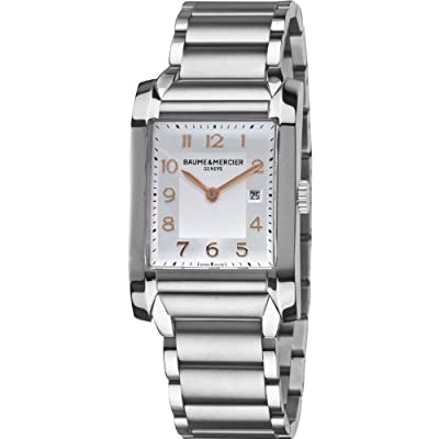Baume & Mercier Men's 10020 Silver Dial Stainless Steel Watch
