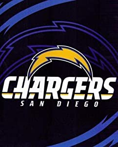 NFL Football San Diego Chargers Blanket ~ 86 X 96 King Size ~ Raschel Royal Plush... by Classy Joint