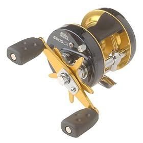 Abu Garcia Ambassadeur C4 Baitcast Round Reel (4 Ball-Bearing, Gear Ratio 6.3:1, Capacity 12/205)