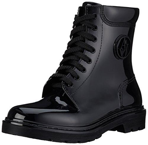 Armani Jeans9251186A520 - Stivali classici imbottiti a mezza gamba Donna , Nero (Schwarz (NERO 00020)), 41