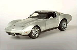 1978 Chevy Corvette 25th Anniversary diecast model car 1:18 scale die cast by AUTOart - Silver