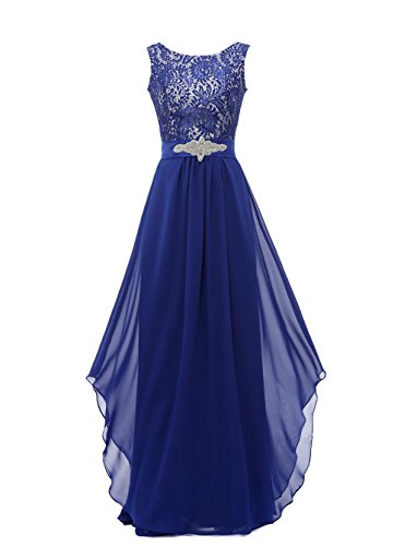 Grace-Lee-Round-Neck-Lace-Sleeveless-Long-Prom-Evening-Dresses