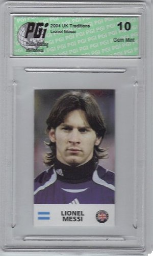 2004 UK Traditions Argentina Rookie Card #UK1 Lionel Messi GM (Gem Mint)