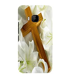 Vizagbeats cross on lillies Back Case Cover for HTC One M9::HTC M9