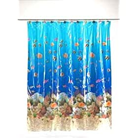Sealife Tropical Fish Vinyl Shower Curtain