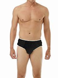 Mens Disposable Underwear Briefs Black med-10pk