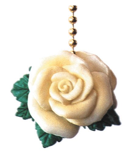 Yellow Rose ceiling FAN PULL home Decor flowers chain