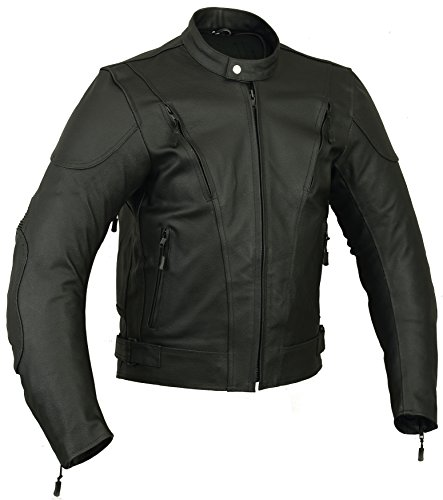 Impact Mens Leather Motorbike Jacket Motorcycle All sizes (M)