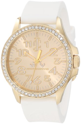 Juicy Couture Women's 1900966 Jetsetter White Silicone Strap Watch