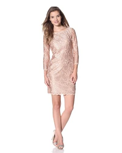 Adrianna Papell Women's Lace Cocktail Dress  - Gold