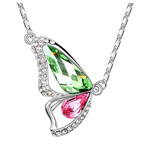 [NL990130C6 Butterfly Shape Alloy Austrian Crystal Necklace] (Dance Costumes Australia Suppliers)
