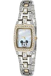 Disney Women's MK2043 Mickey Mouse Two-Tone Bracelet Watch