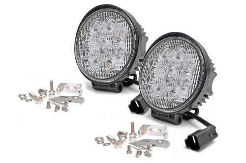 Rough Country 70804 - 4-Inch Led Round Lights (Pair) For Anywhere You Can Mount It