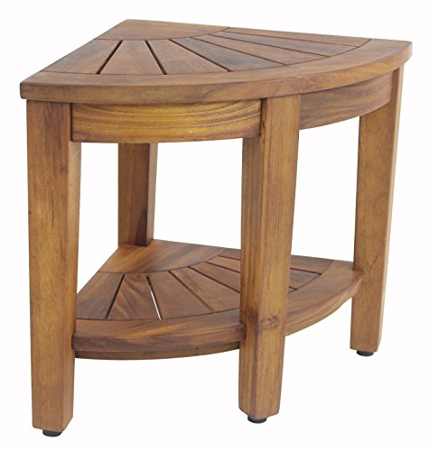 The Original 15.5 Kai Corner Teak Shower Bench with Shelf (Wood Shower Bench compare prices)