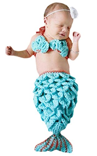 Ace Halloween Toddlers Infant Cute Mermaid Costumes