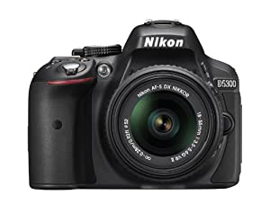 Nikon D5300 24.2 MP CMOS Digital SLR Camera with 18-55mm f/3.5-5.6G ED VR II AF-S DX NIKKOR Zoom Lens (Black)