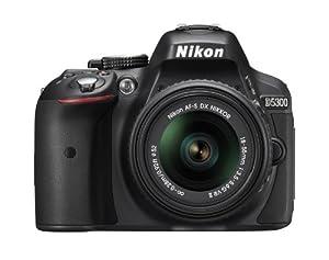 Nikon D5300 24.2 MP CMOS Digital SLR Camera with 18-55mm f/3.5-5.6G ED VR II Auto Focus-S DX NIKKOR Zoom Lens (Black)