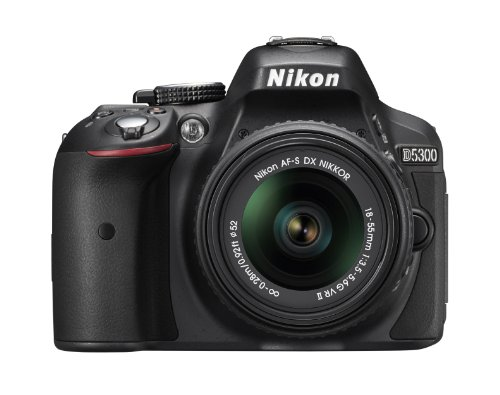 For Sale! Nikon D5300 24.2 MP CMOS Digital SLR Camera with 18-55mm f/3.5-5.6G ED VR II AF-S DX NIKKO...