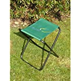 """A small fishing or picnic stool. Strong canvas seat. Approx. dimensions: Height 16 1/2/"""" seat 12 1/2/"""" x 9/""""."""