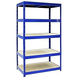 garagenregal mit 5 b den blau 50 cm tief baumarkt. Black Bedroom Furniture Sets. Home Design Ideas