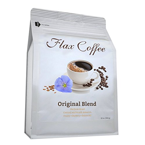 Flax Coffee -Original Blend- Weight Loss, Lower Acid Burn, More ENERGY, Improve Digestion, No Bitter taste, No Crash, No Jitters, Non-GMO -Made with 100% Arabica Coffee Beans and Pure Roasted Flaxseed (Flax Seeds Roasted Organic compare prices)
