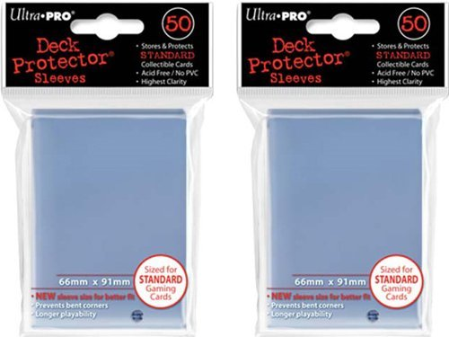 (100x) Ultra PRO Clear Deck Protectors Sleeves Standard MTG Colors