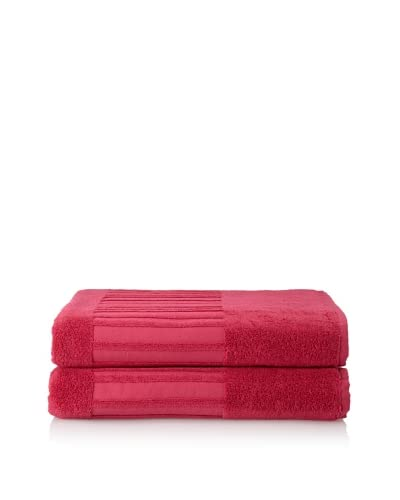 Garnier-Thiebaut Set of 2 Bath Sheets, Framboise As You See