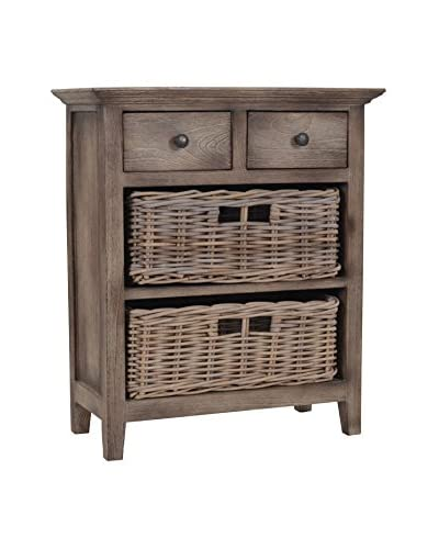 Jeffan Baker Cabinet with 2 Drawers & 2 Baskets, Natural