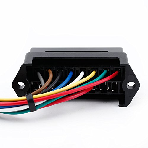 8 Way DC32V Circuit Car Trailer Auto Blade Fuse Box Block Holder ATC ATO 2-input 8-ouput Wire
