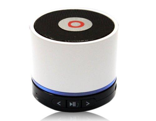 Classic Mini Bluetooth Tf Slot Handfree Stereo Speaker Beats 4.0 White