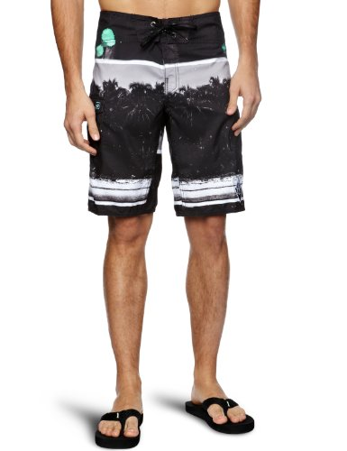 Reef Palmas Negras Men's Swim Shorts Black Small