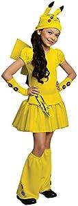 Pokemon Girl Pikachu Costume Dress, Medium